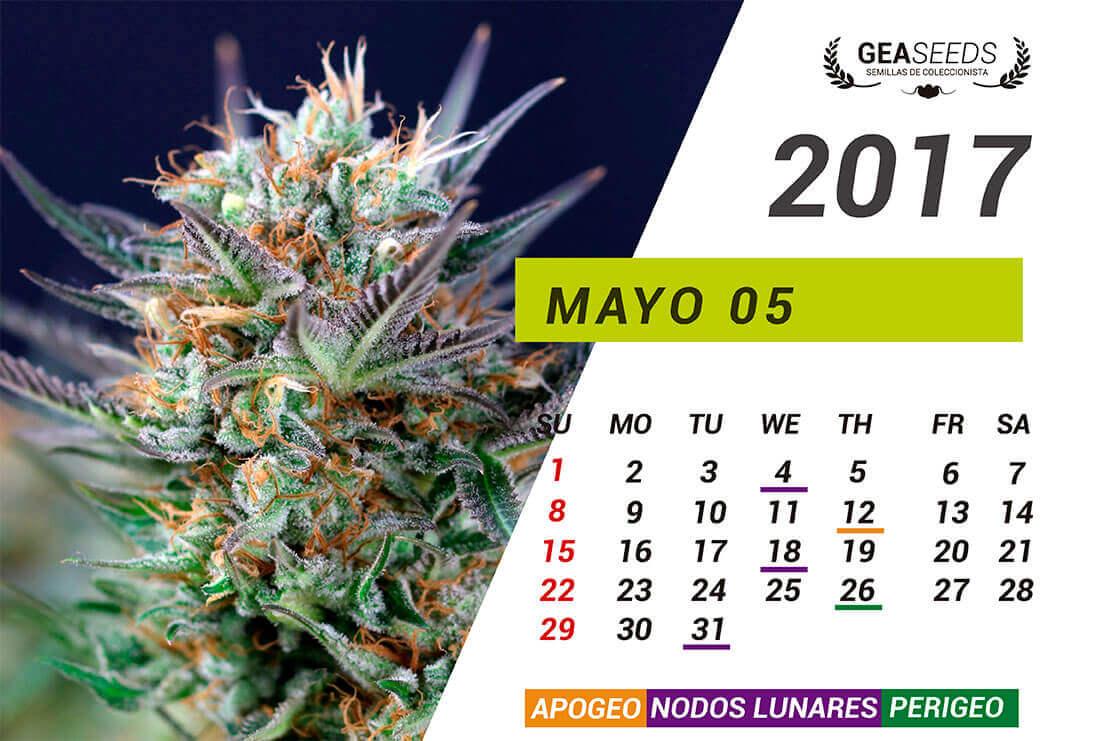 Calendario lunar de la marihuana 2018 Calendario 2017 con lunas