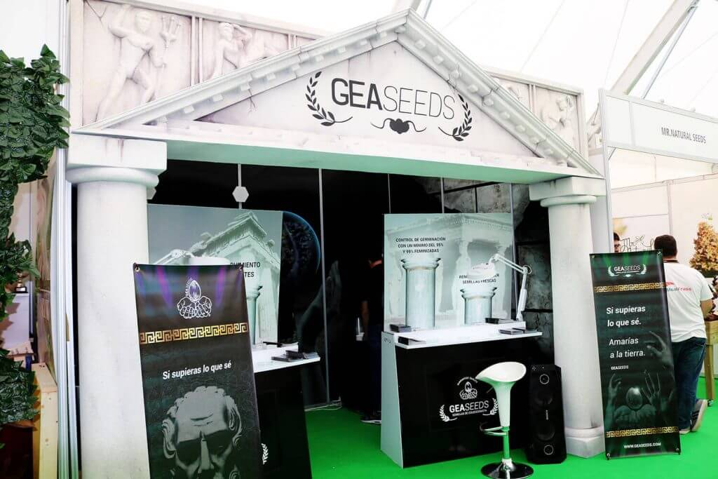 Gea Seeds Stand for Spannabis 2018