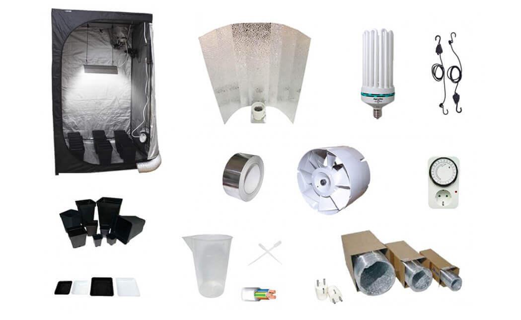 Cultivo de interior con bombillas cfl de bajo consumo for Kit de cultivo de interior