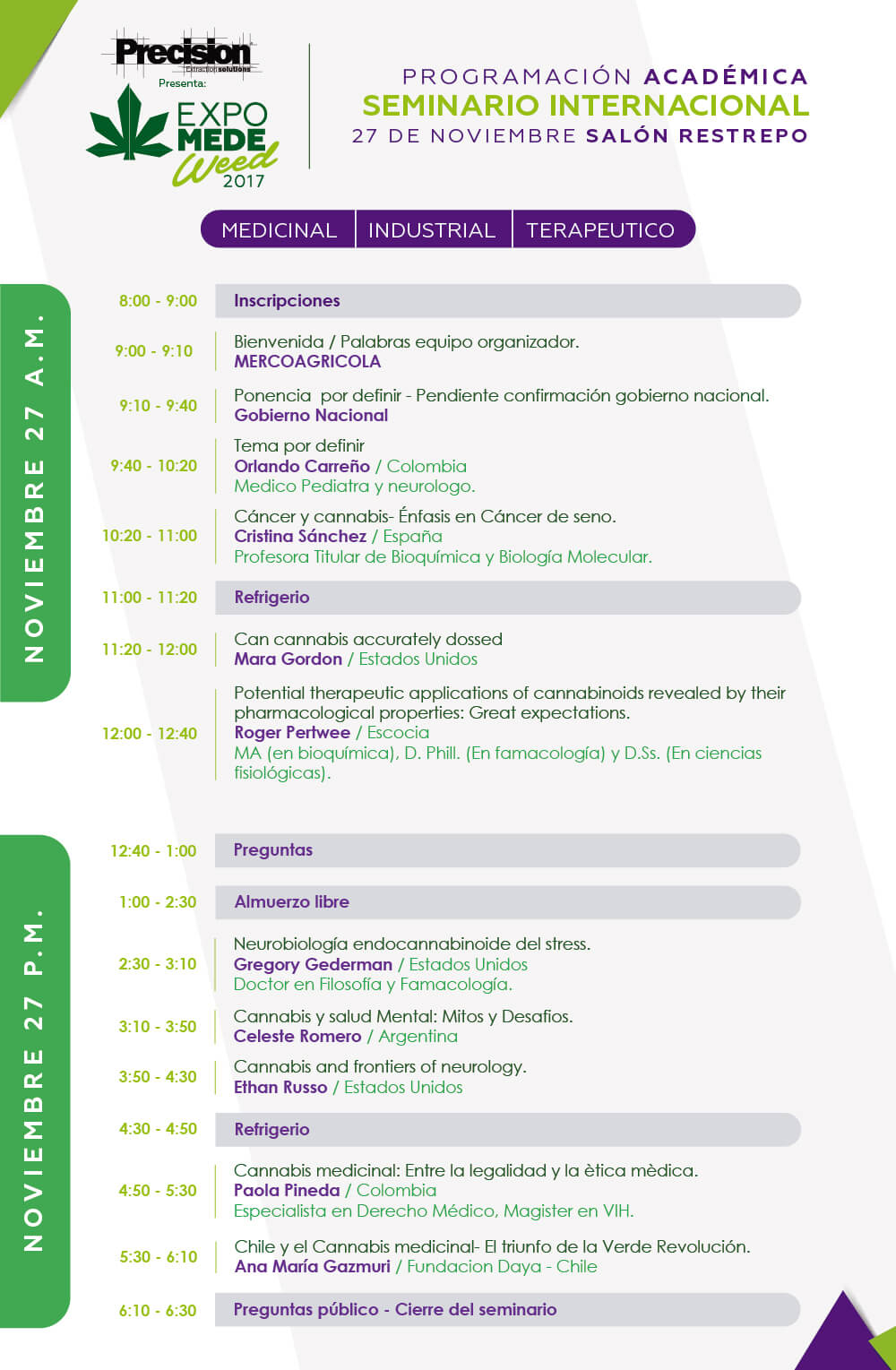 Seminar programme