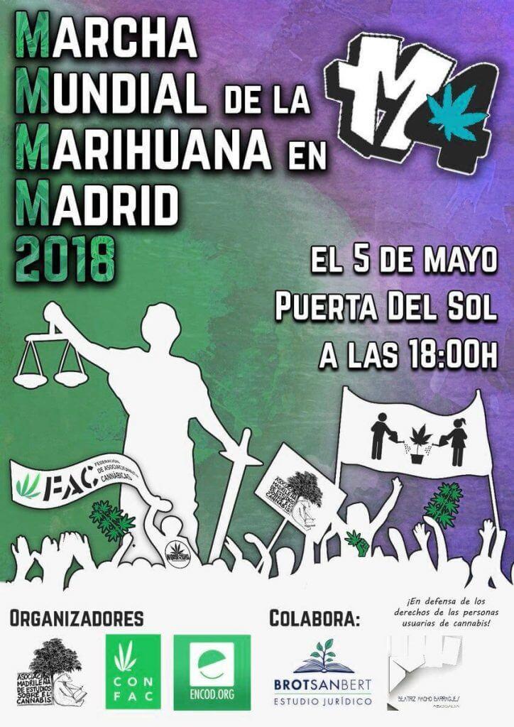 Marcha mundial de la marihuana en Madrid 2018