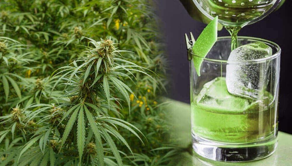 Alcohol with marijuana
