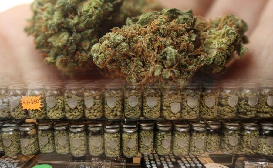 marihuana en tienda