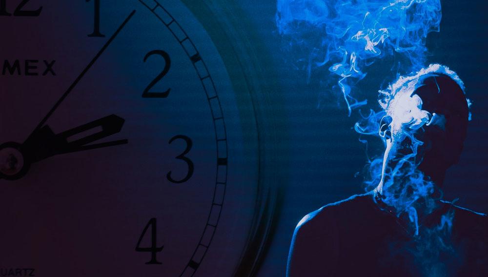 smoking marijuana at night