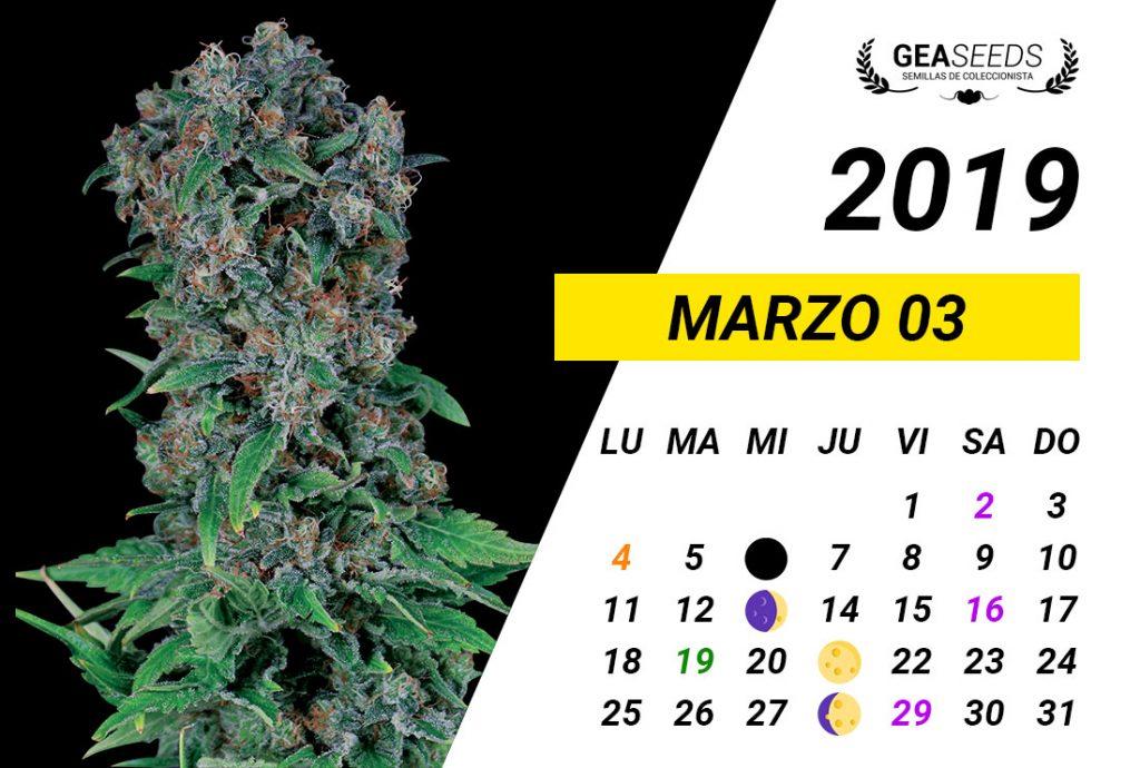 Calendario Marzo 2019