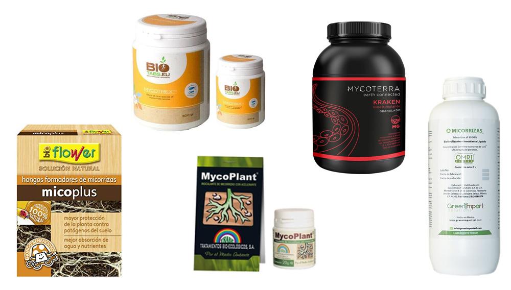productos formadores de micorrizas